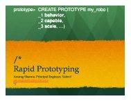 /* Rapid Prototyping