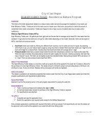 City of Las Vegas HIGH EFFICIENCY TOILET - Residential Rebate ...