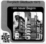 ein neuer Beginn... - Archiv des BGV Rhein-Berg