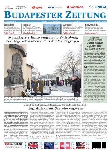 Gedenktag zur Erinnerung an die Vertreibung der Ungarndeutschen ...
