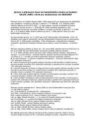 Zpráva o přijímacím řízení na Hudební fakultě JAMU v Brně pro ...