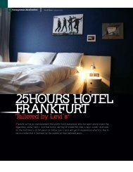 25HOURS HOTEL FRANKFURT