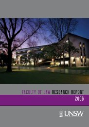 Law Faculty Research Report 2006 - UNSW Law - The University of ...
