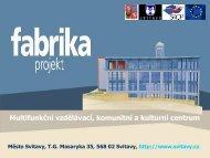 Fabrika - Multifunkční vzdělávací, komunitní a kulturní centrum
