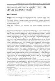 einbanddatenbank a její využití při studiu knižních vazeb