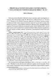 Příspěvek k textové dynamice exulantských vydání Kralické bible v ...