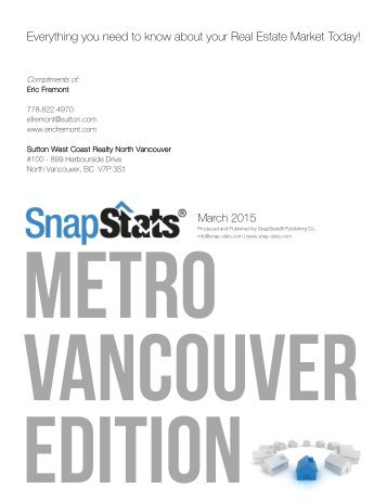 Everything you need to know about your RealEstate Market Today! M arch 2015