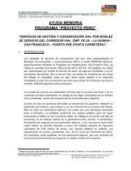 proyecto perú - Provias Nacional