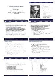 Gödels Incompleteness Theorems Kurt Gödel His Theorems A ...