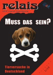 Was sind Tierversuche? - VCP Land Hamburg