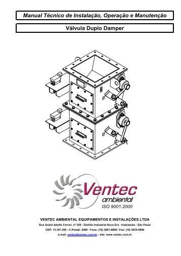 Manual Técnico de Instalação, Operação e Manutenção ... - Ventec