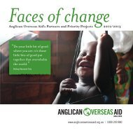 At a glance - Anglican Overseas Aid