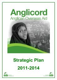 Strategic Plan - Anglican Overseas Aid