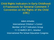 Child Rights Indicators in Early Childhood