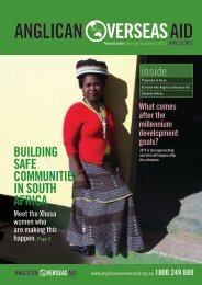 Building safe communities in south africa - Anglican Overseas Aid