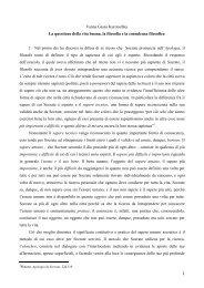 Vanna Gessa Kurotschka La questione della vita buona, la filosofia ...