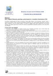 Relazione Incontro del 24 Febbraio 2009 I ... - Le Radici e le Ali