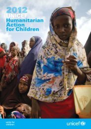 UNICEF Humanitarian Action for Children