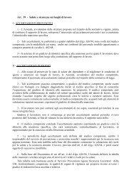 Art. 39 - Salute e sicurezza sui luoghi di lavoro I ... - Federambiente
