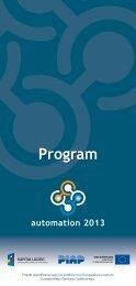 Program automation 2013 - Piap