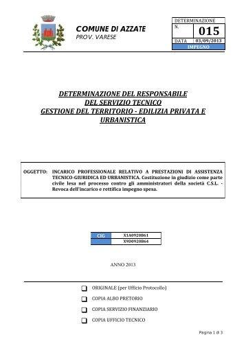 edilizia privata e urbanistica - Comune di Azzate
