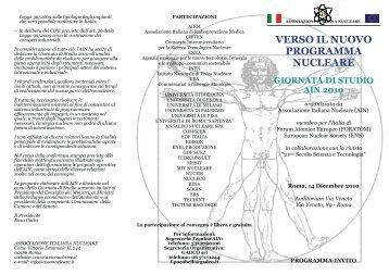 Verso il nuovo programma nucleare Giornata di studio AIN ... - Enea