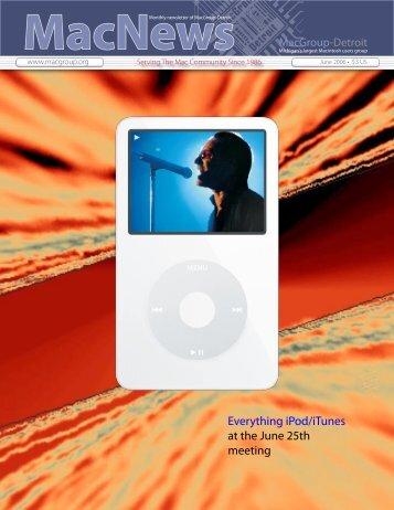 Everything iPod/iTunes at the June 25th meeting - MacGroup-Detroit