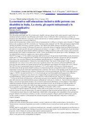 La normativa sull'educazione inclusiva delle persone con disabilità ...