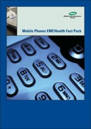 Mobile Phones EMF/Health Fact Pack - Mobile Manufacturers Forum