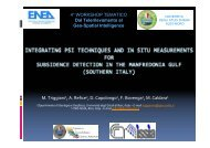 Integrating PSI techniques and in situ measurements for ... - Enea