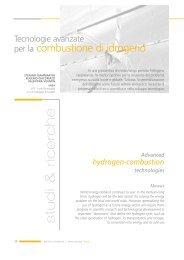 Tecnologie avanzate per la combustione di idrogeno - Enea