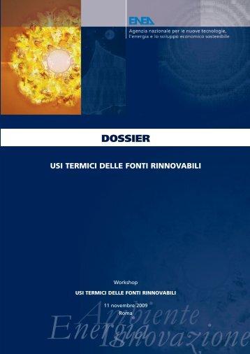"""Dossier: """"Usi termici delle fonti rinnovabili"""" - Enea"""