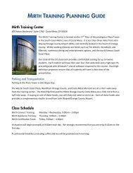 Mirth Training Syllabus - Mirth Corporation