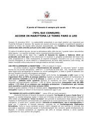 Comunicato stampa - Porto di Venezia