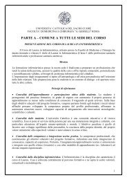 PARTE A – COMUNE A TUTTE LE SEDI DEL CORSO - Cottolengo