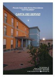 CARTA DEI SERVIZI - Assistenza - Cottolengo