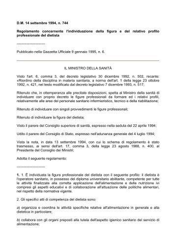 DM dietista - Educazione alla Salute . NET