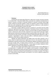 1 DOUMENTI DELLA CHIESA E PASTORALE DELLA ... - Cottolengo