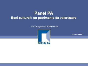 Panel PA Beni culturali