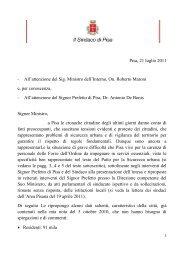 Pisa, 21 luglio 2011 - All'attenzione del Sig ... - Filippeschi, Marco
