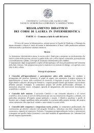 regolamento didattico dei corsi di laurea in infermieristica - Cottolengo