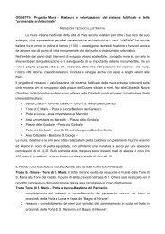 Relazione tecnico-illustrativa x presentazione ... - Filippeschi, Marco