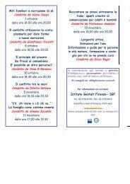 calendario incontri - Educazione alla Salute . NET
