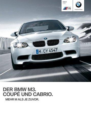 DER BMW M3. COUPÉ UND CABRIO.