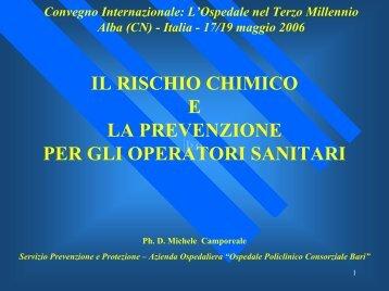II rischio chimico e la prevenzione per gli operatori sanitari
