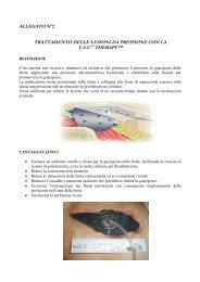 allegato n°2 trattamento delle lesioni da pressione con la vac ...