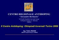 "Centro Antidoping ""A. Bertinaria"""