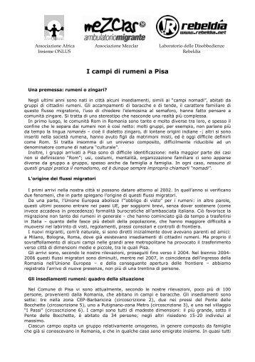 dossier consegnato ai consiglieri comunali - Africa Insieme di Pisa