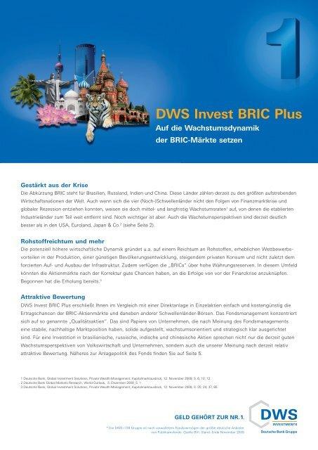 DWS Invest BRIC Plus - LV 1871