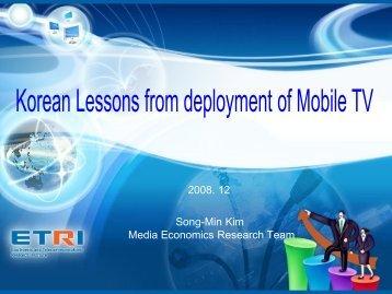Mobile TV development in South Korea